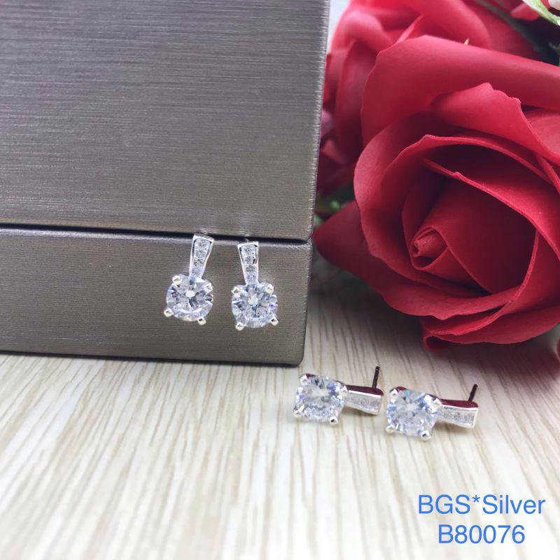 B80076 Bông tai bạc nữ đẹp độc lạ HCM
