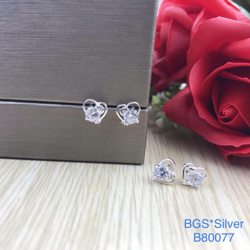 B80077 Bông tai bạc nữ đẹp độc lạ HCM