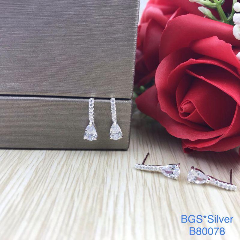 B80078 Bông tai bạc nữ đẹp độc lạ HCM