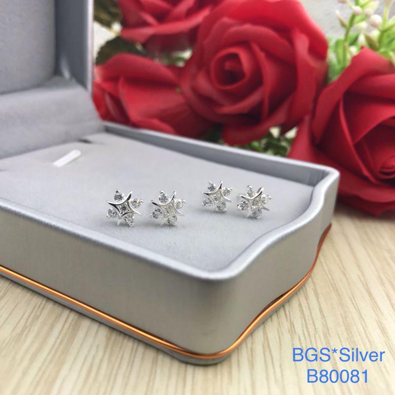 B80081 Bông tai bạc nữ đẹp độc lạ HCM