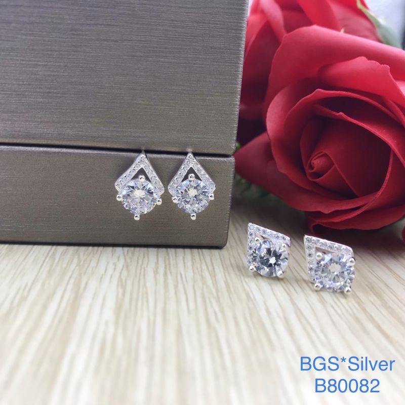 B80082 Bông tai bạc nữ đẹp độc lạ HCM