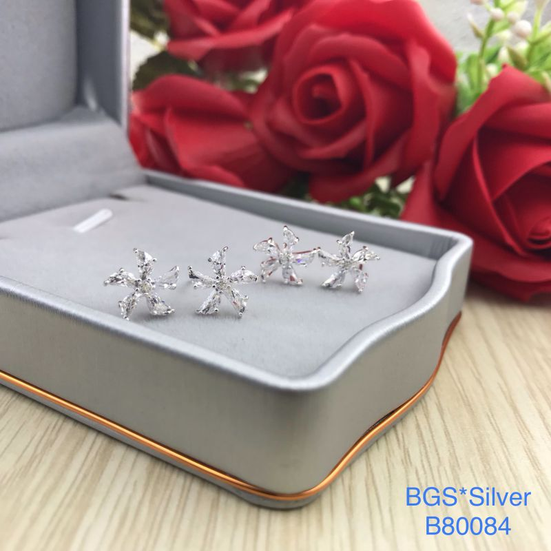 B80084 Bông tai bạc nữ đẹp độc lạ HCM