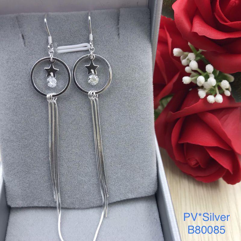 B80085 Bông tai bạc nữ đẹp độc lạ HCM