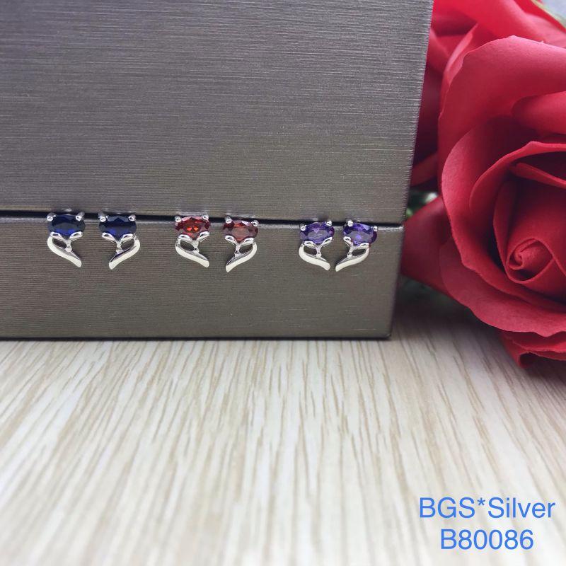 B80086 Bông tai bạc nữ đẹp độc lạ HCM