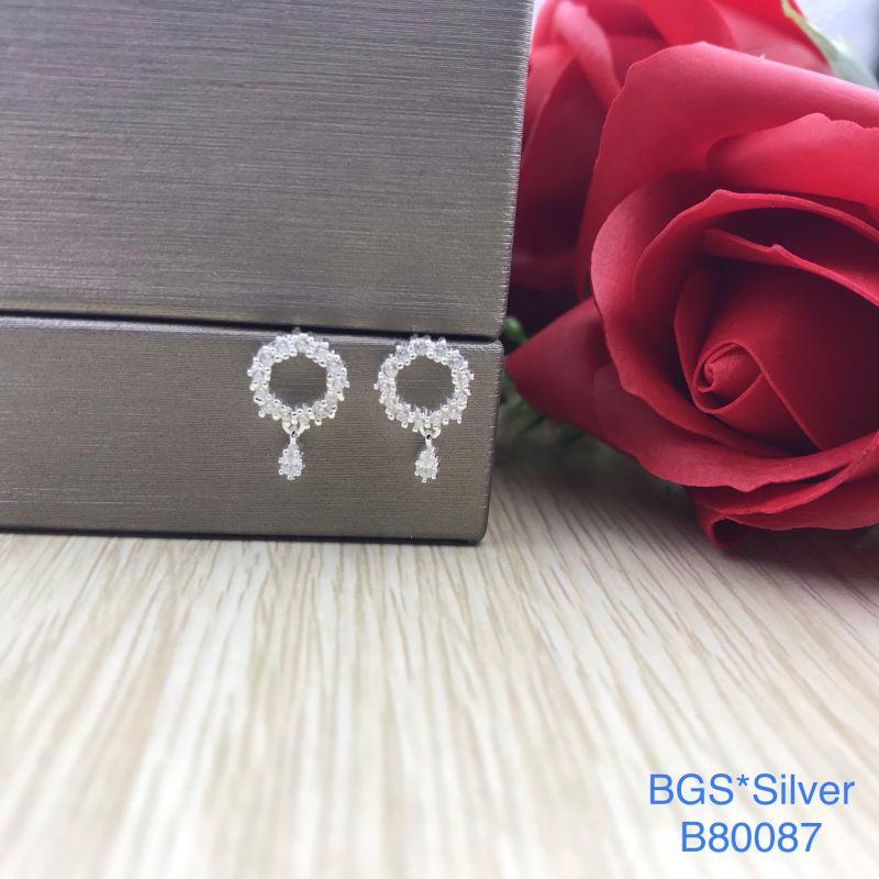 B80087 Bông tai bạc nữ đẹp độc lạ HCM