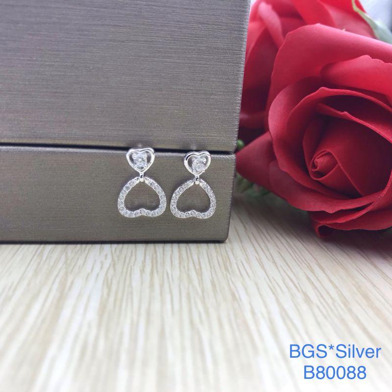 B80088 Bông tai bạc nữ đẹp độc lạ HCM