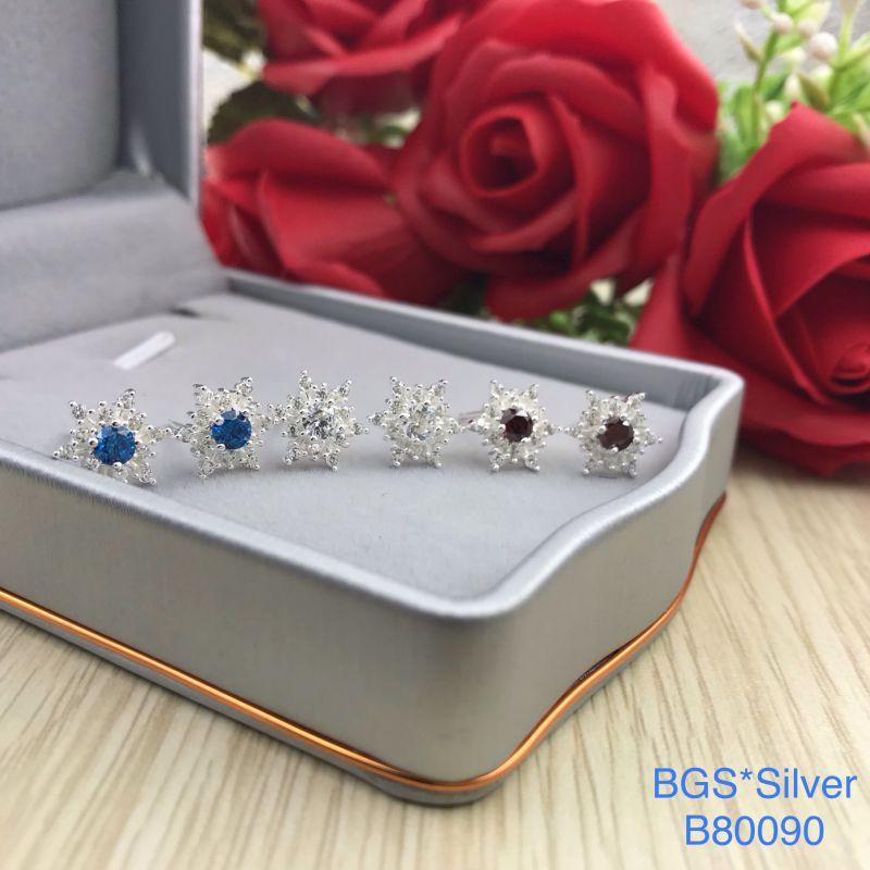 B80090 Bông tai bạc nữ đẹp độc lạ HCM