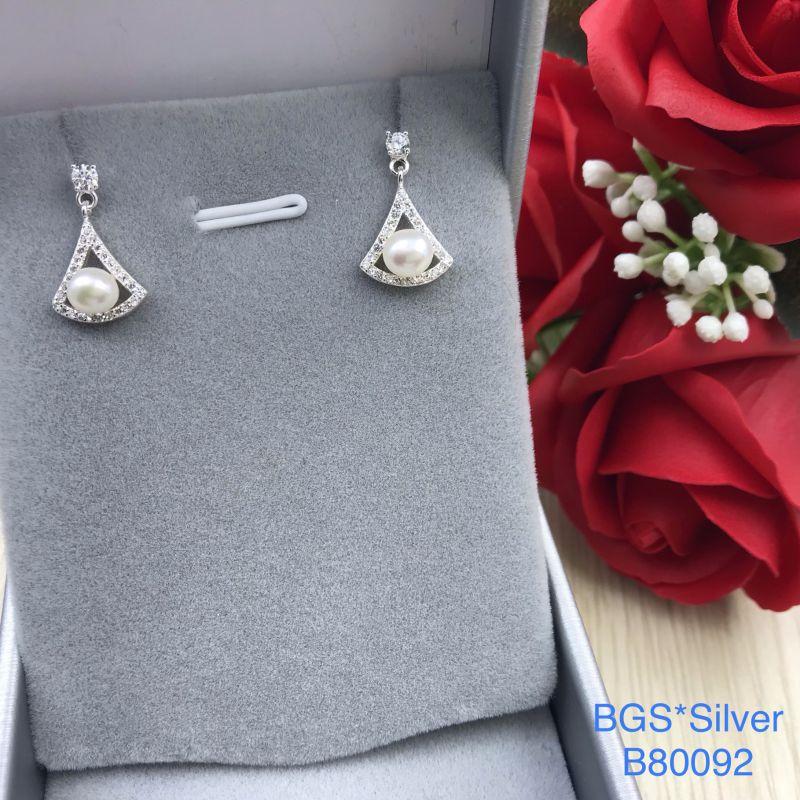 B80092 Bông tai bạc nữ đẹp độc lạ HCM