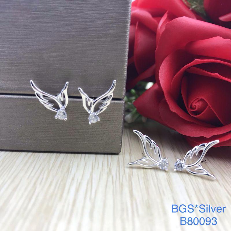 B80093 Bông tai bạc nữ đẹp độc lạ HCM