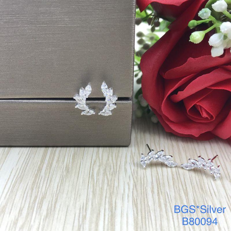 B80094 Bông tai bạc nữ đẹp độc lạ HCM