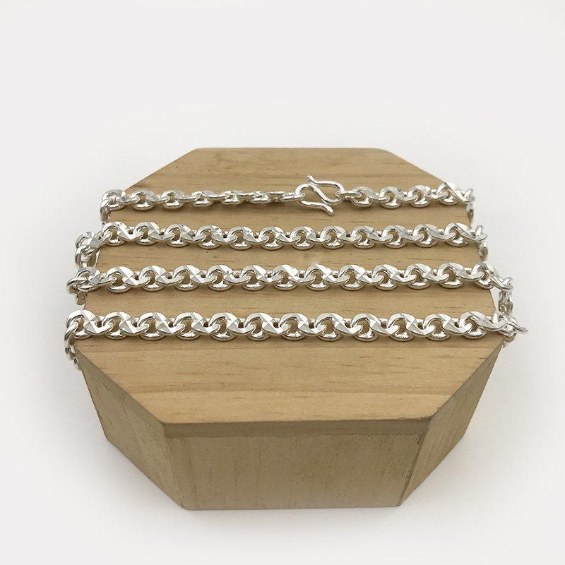 DA80006 Dây chuyền bạc nam dây số 8 cỡ trung 3c50-4c00 đẹp độc lạ HCM