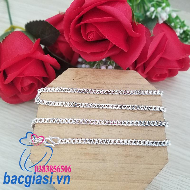 DA80005 Dây chuyền bạc nam dây lật đặc cỡ trung 5c00-5c50 đẹp độc lạ HCM