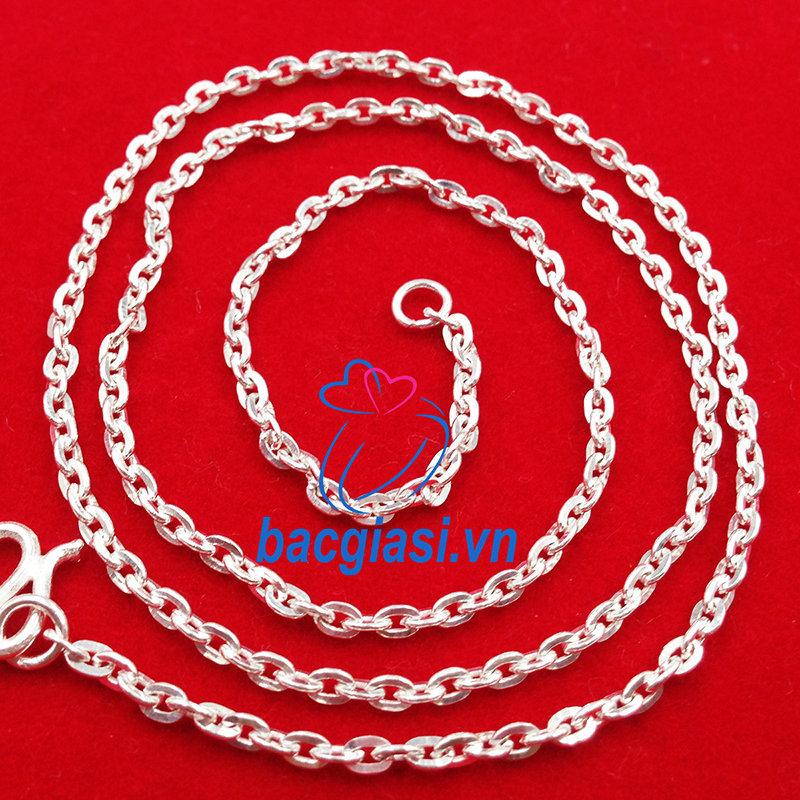 DE80006 Dây chuyền bạc trẻ em dây công đặc cỡ vừa đẹp độc lạ HCM