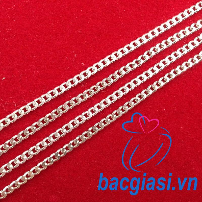 DE80002 Dây chuyền bạc trẻ em dây lật đặc cỡ vừa 1c80-2c20 đẹp độc lạ HCM