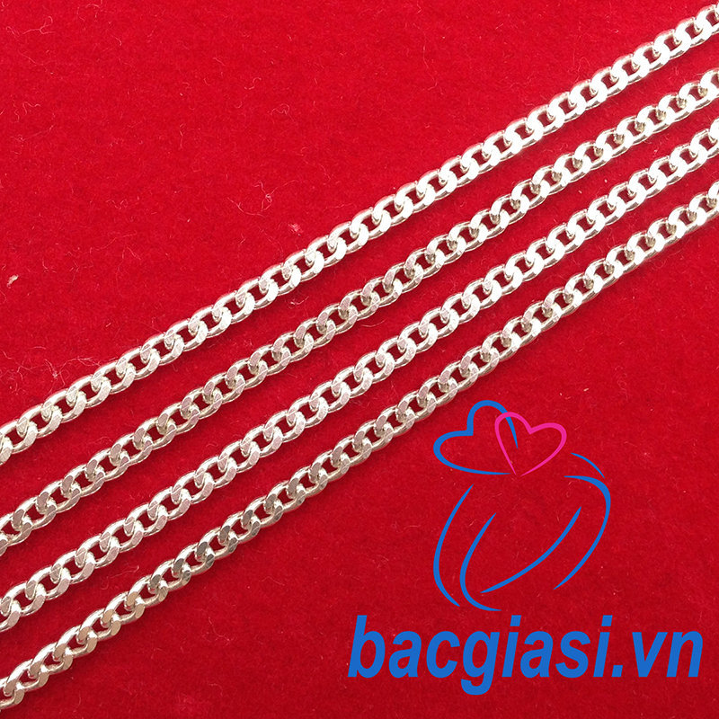 DE80004 Dây chuyền bạc trẻ em dây lật đặc cỡ lớn 2c60-3c00 đẹp độc lạ HCM