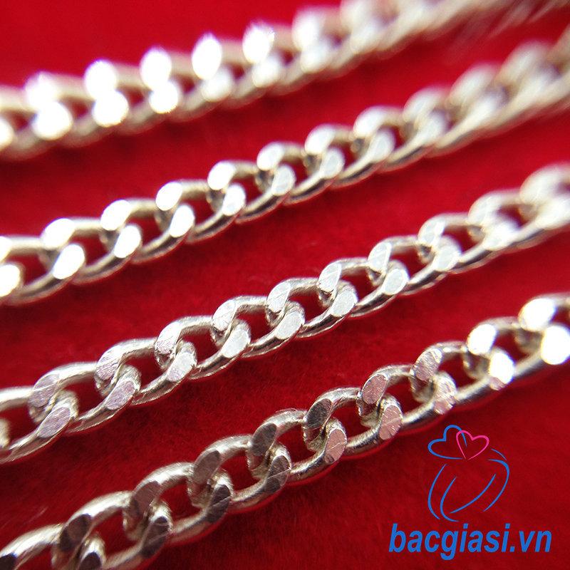 DE80003 Dây chuyền bạc trẻ em dây lật đặc cỡ trung 2c30-2c50 đẹp độc lạ HCM