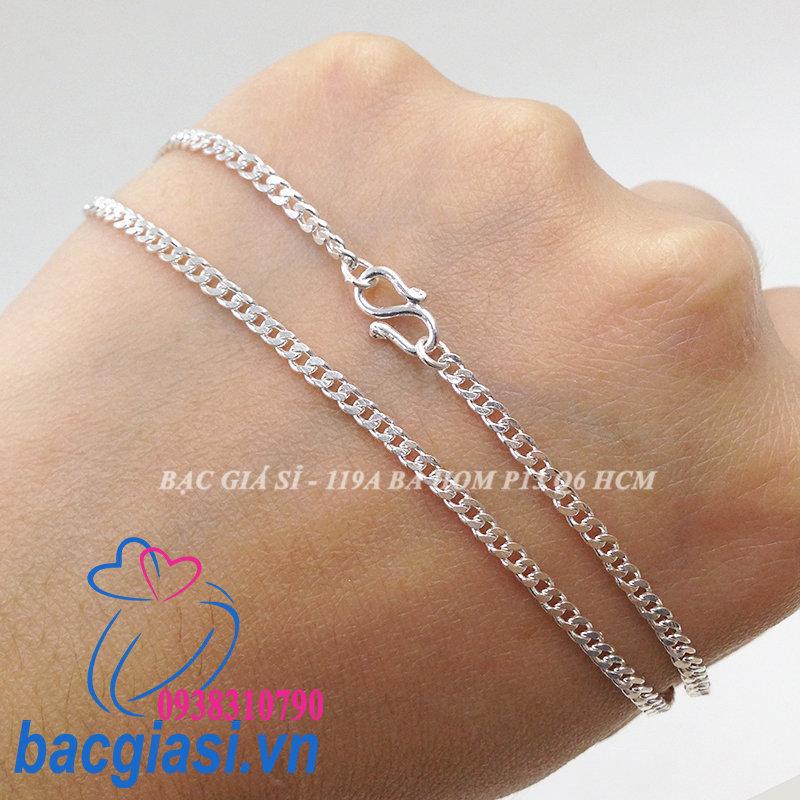 DE80001 Dây chuyền bạc trẻ em dây lật đặc cỡ nhỏ 1c50 đẹp độc lạ HCM