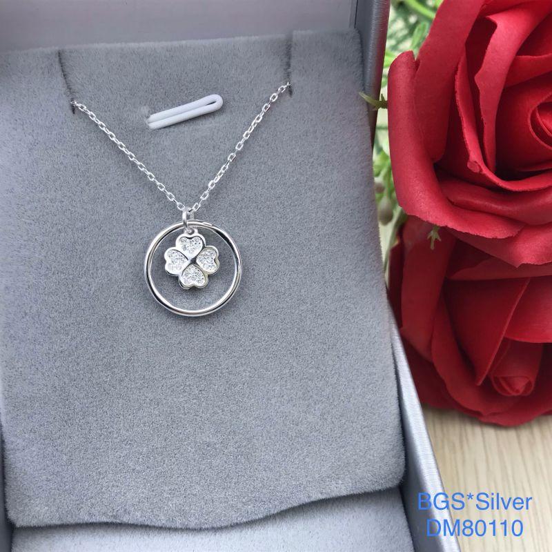 DM80110 Dây chuyền bạc nữ mặt cỏ 4 lá dễ thương đẹp độc lạ HCM