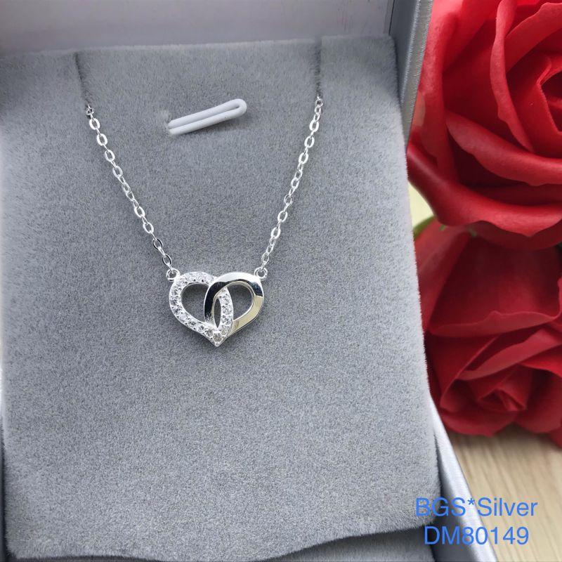 DM80149 Dây chuyền bạc nữ trái tim dễ thương đẹp Sài Gòn