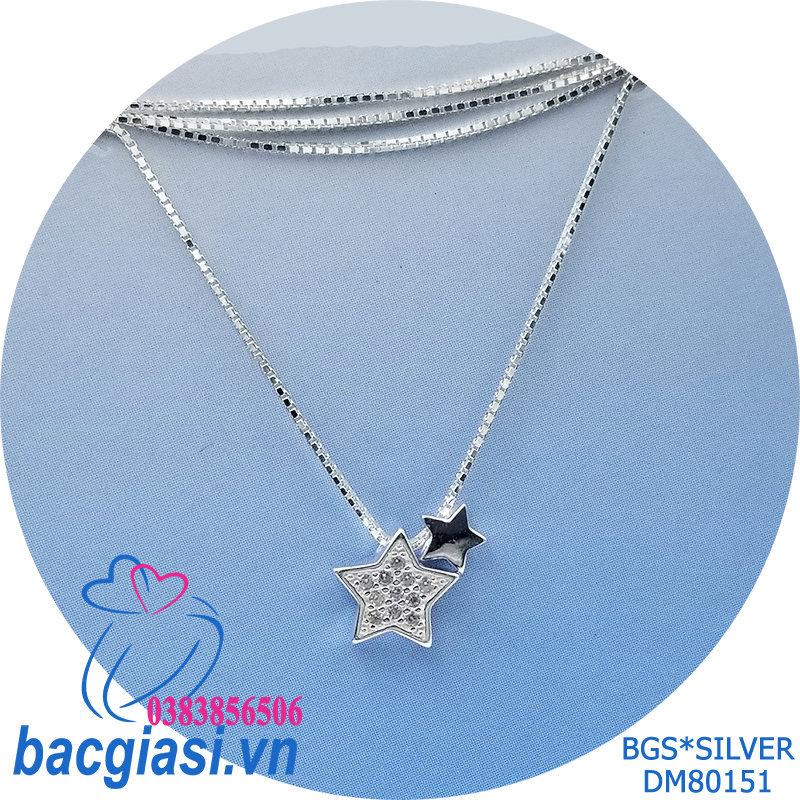 DM80151 Dây chuyền bạc nữ ngôi sao đẹp độc lạ HCM