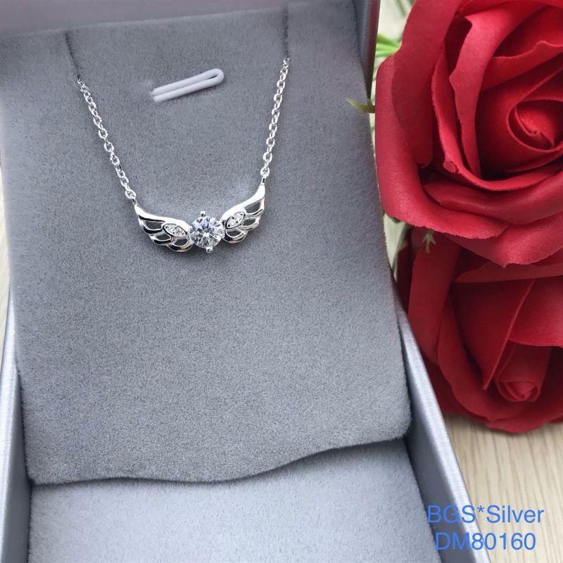 DM80160 Dây chuyền bạc nữ cánh thiên thần dễ thương đẹp độc lạ HCM