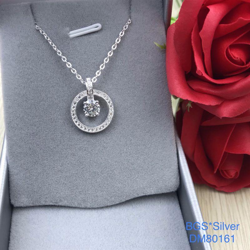 DM80161 Dây chuyền bạc nữ mẫu Ý sang trọng, thanh lịch đẹp độc lạ HCM