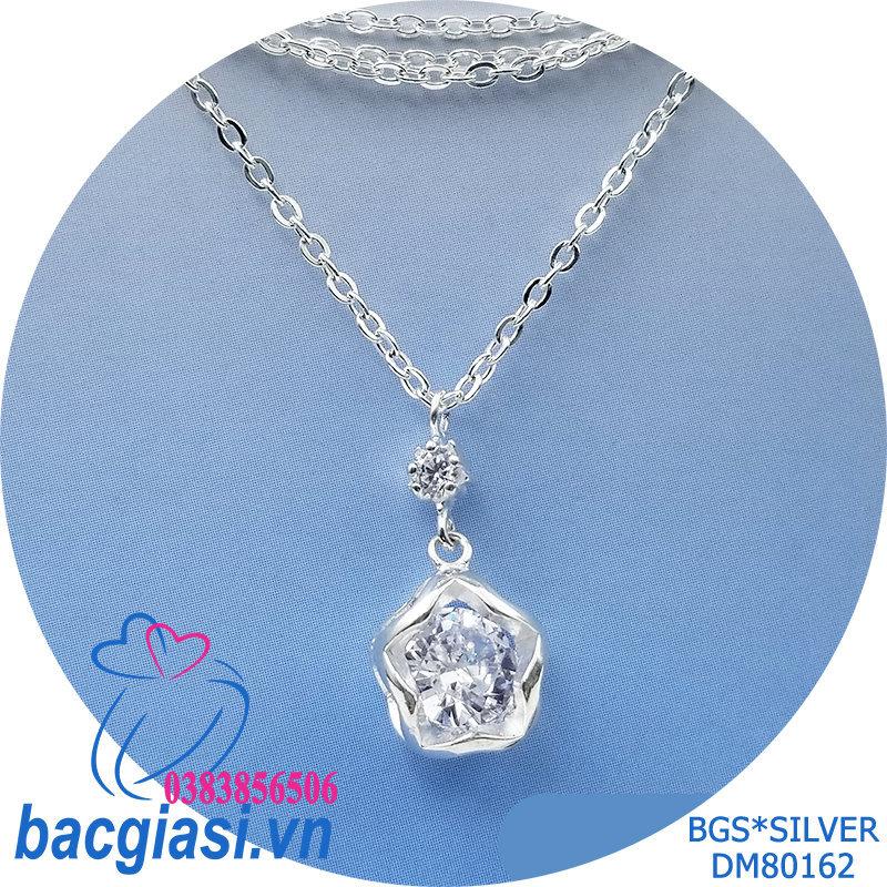 DM80162 Dây chuyền bạc nữ sao đá trắng lớn sang trọng, dễ thương đẹp độc lạ HCM