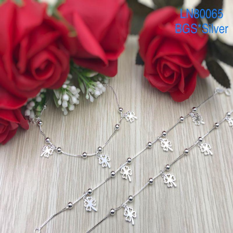 LN80065 Lắc tay bạc nữ tòn ten cỏ 4 lá đẹp đẹp độc lạ HCM