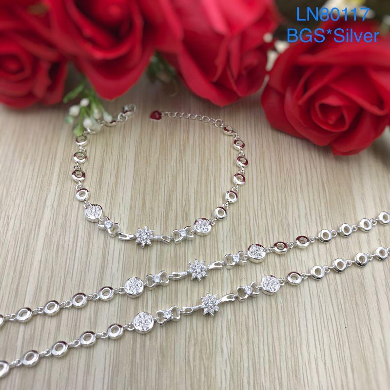 LN80117 Lắc tay bạc nữ mẫu Ý đẹp độc lạ HCM