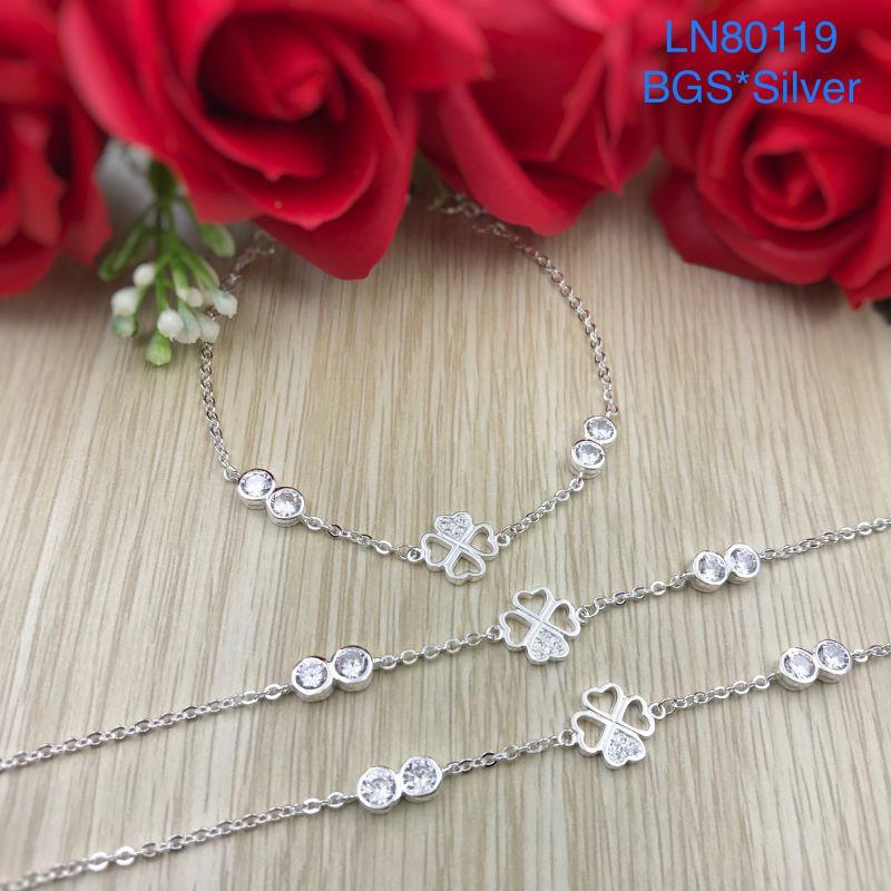 LN80119 Lắc tay bạc nữ cỏ 4 lá đẹp độc lạ HCM