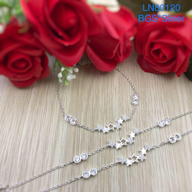 LN80120 Lắc tay bạc nữ ngôi sao dễ thương đẹp độc lạ HCM