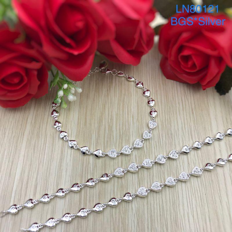 LN80121 Lắc tay bạc nữ tim kết đẹp độc lạ HCM