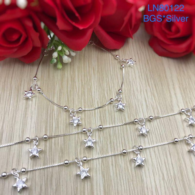 LN80122 Lắc tay bạc nữ tòn ten ngôi sao đẹp xinh độc lạ HCM