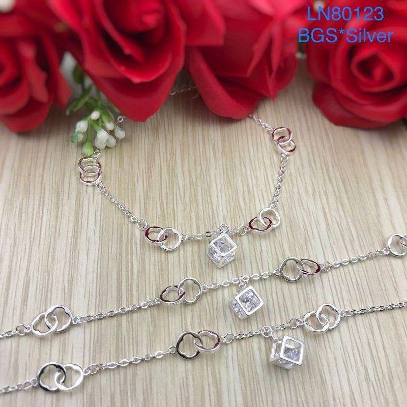 LN80123 Lắc tay bạc nữ tòn ten đá trắng mẫu Ý đẹp độc lạ HCM