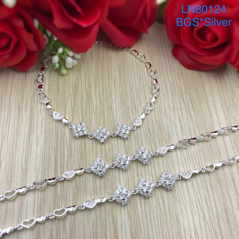 LN80124 Lắc tay bạc nữ mẫu Ý đẹp độc lạ HCM