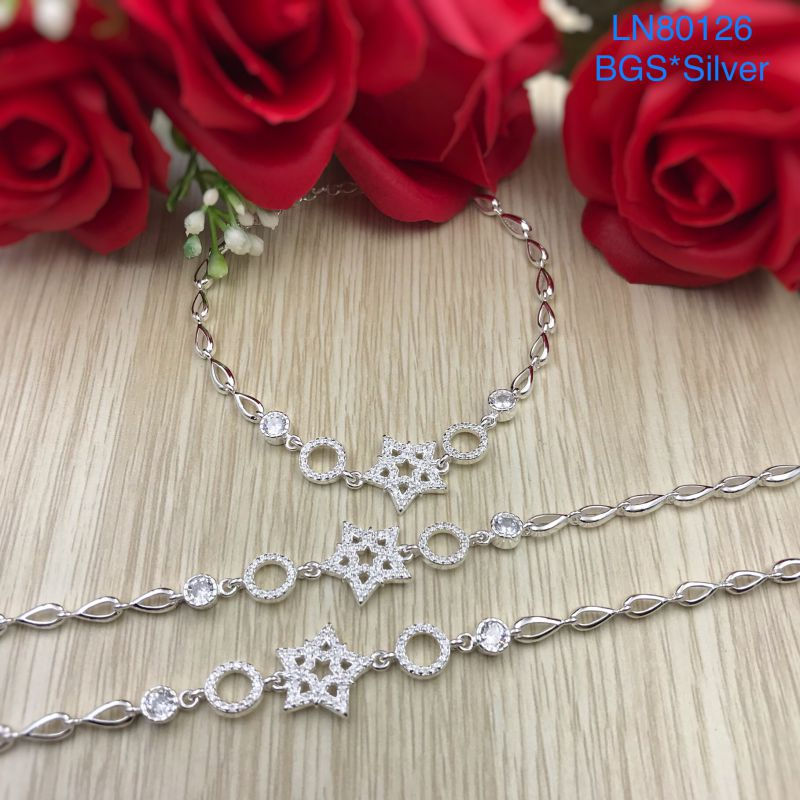 LN80126 Lắc tay bạc nữ ngôi sao kiểu Ý dễ thương đẹp độc lạ HCM