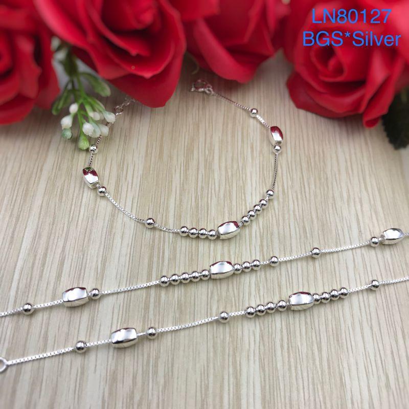 LN80127 Lắc tay bạc nữ mẫu Ý đẹp độc lạ HCM