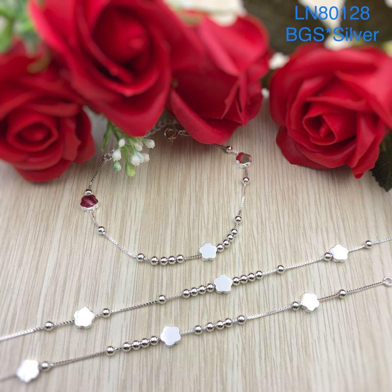 LN80128 Lắc tay bạc nữ mẫu Ý đẹp độc lạ HCM