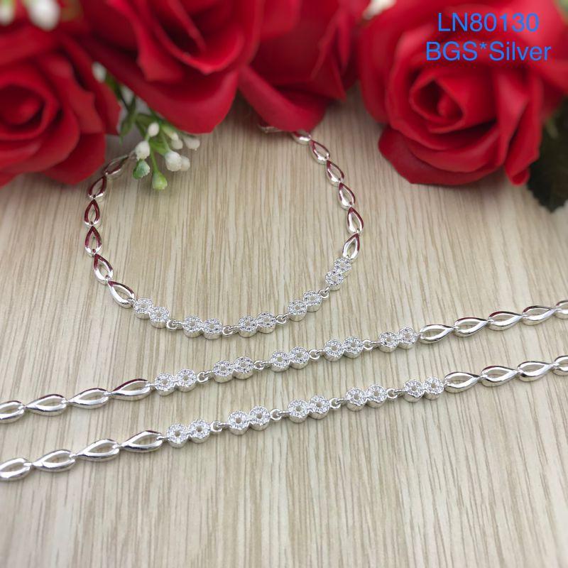 LN80130 Lắc tay bạc nữ mẫu Ý đẹp độc lạ HCM
