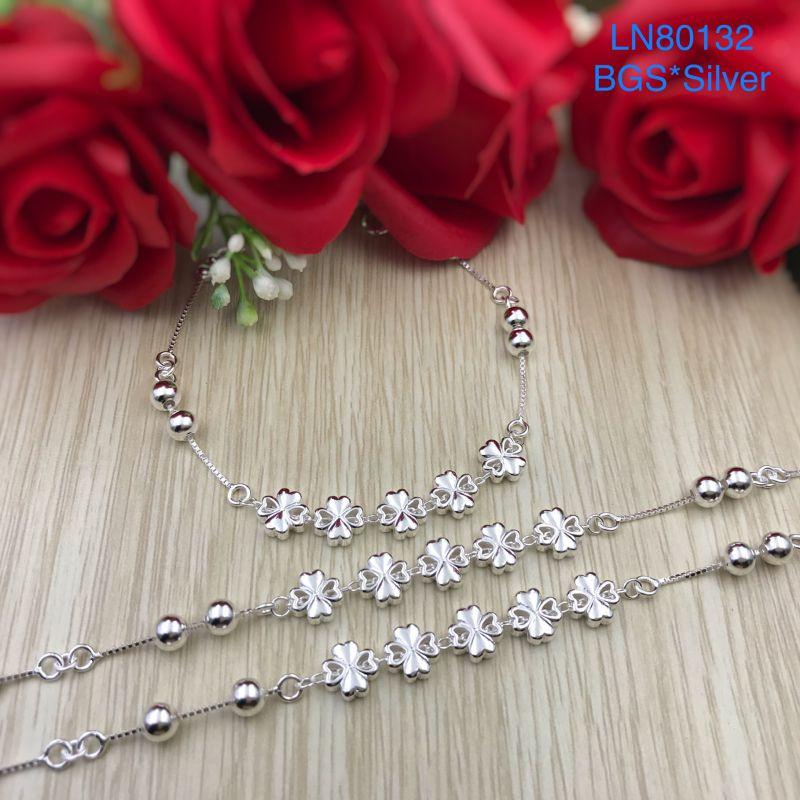 LN80132 Lắc tay bạc nữ cỏ 4 lá đẹp độc lạ HCM