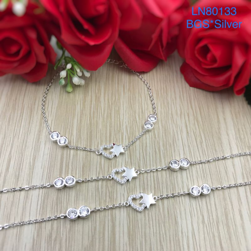 LN80133 Lắc tay bạc nữ tim sao mẫu Ý đẹp độc lạ HCM