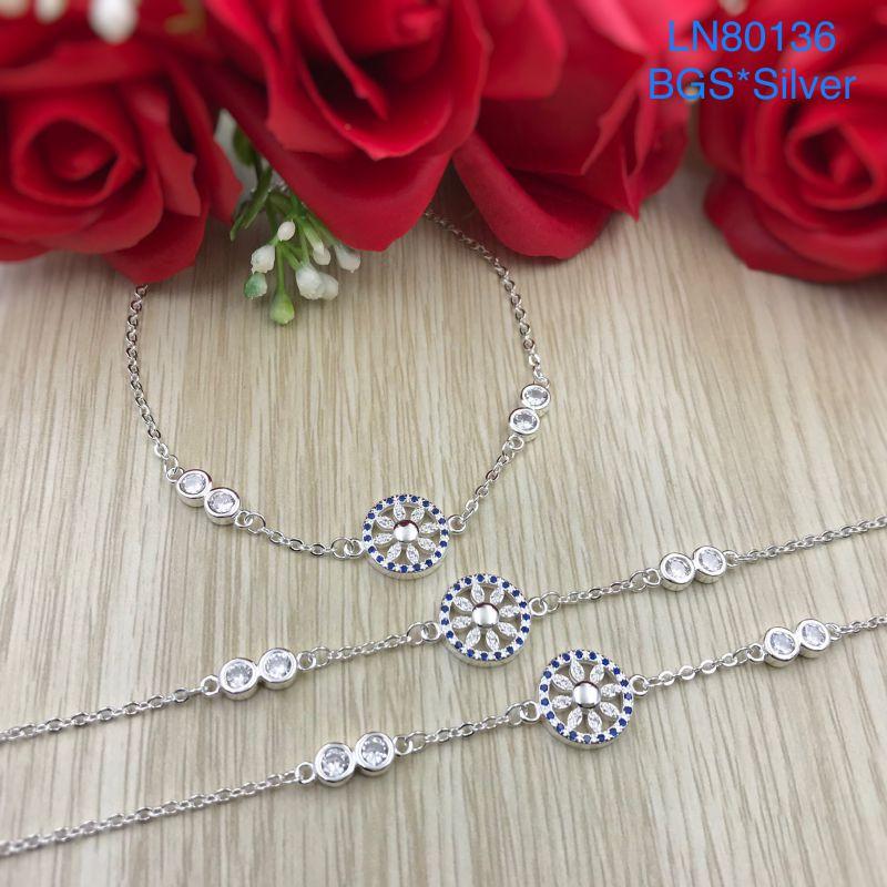 LN80136 Lắc tay bạc nữ đá màu đẹp độc lạ HCM