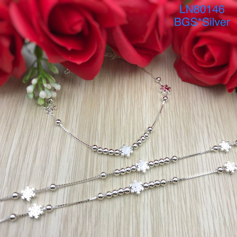 LN80146 Lắc tay bạc nữ hoa tuyết đẹp độc lạ HCM