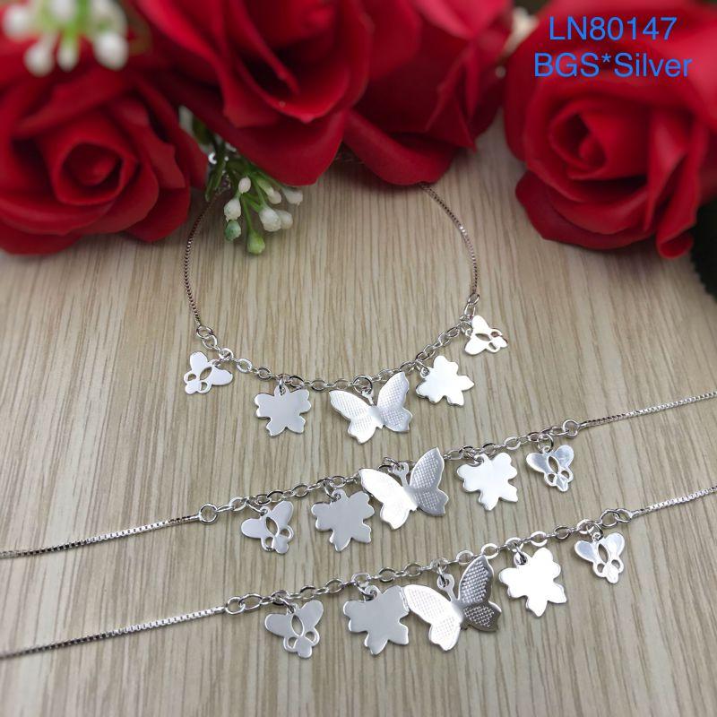 LN80147 Lắc tay bạc nữ bướm bạc mẫu Ý đẹp độc lạ HCM