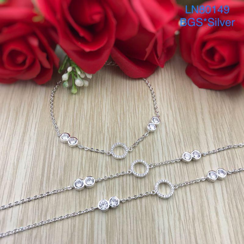 LN80149 Lắc tay bạc nữ mẫu Ý đẹp độc lạ HCM