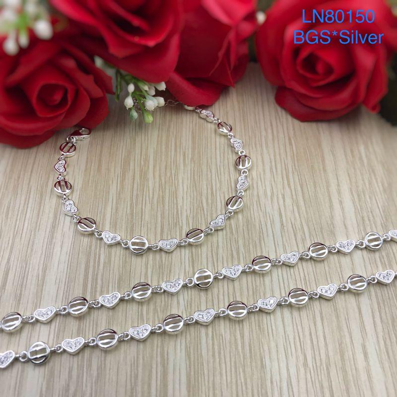 LN80150 Lắc tay bạc nữ mẫu Ý đẹp độc lạ HCM
