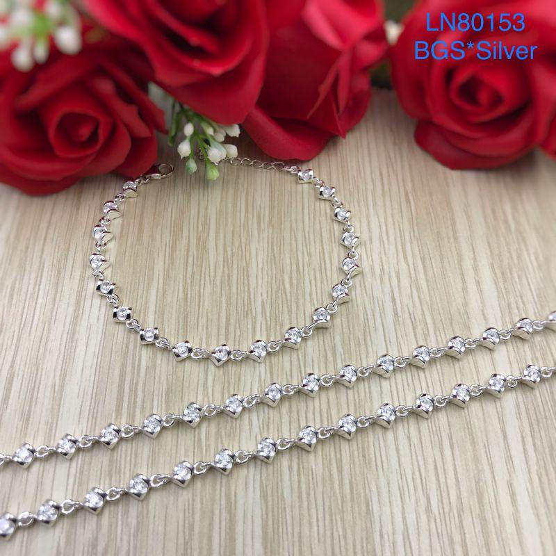 LN80153 Lắc tay bạc nữ mẫu Ý đẹp độc lạ HCM