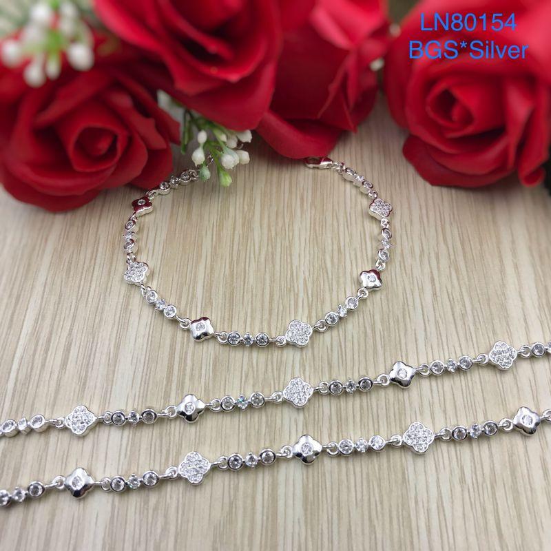 LN80154 Lắc tay bạc nữ mẫu Ý đẹp dễ thương đẹp độc lạ HCM