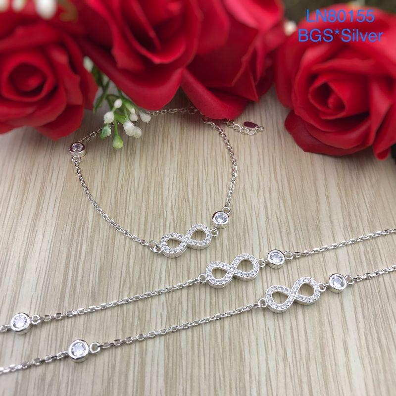 LN80155 Lắc tay bạc nữ vô cực mẫu Ý đẹp độc lạ HCM