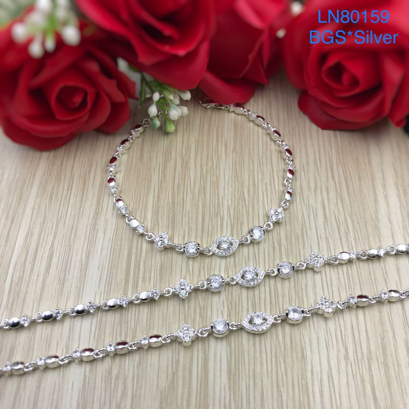 LN80159 Lắc tay bạc nữ mẫu Ý đẹp độc lạ HCM